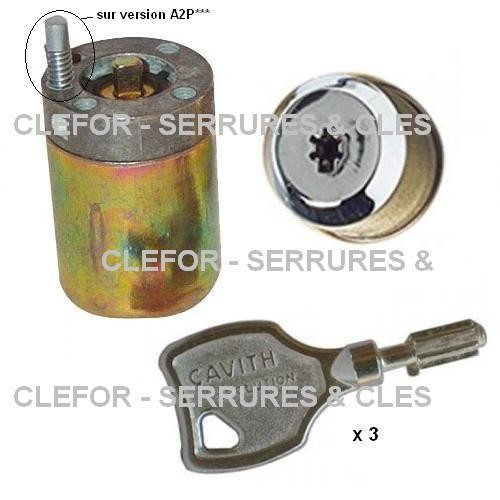 JEU CYLINDRES CAVITH A2P - 3 clés