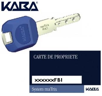 clé Kaba Matrix supplémentaire