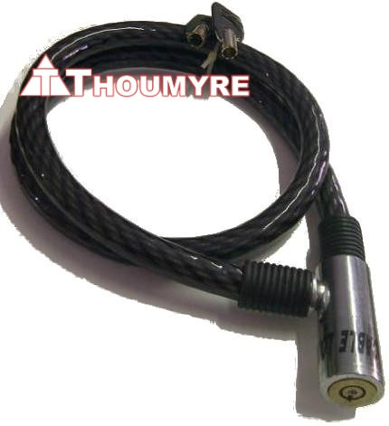 CABLE ANTIVOL DIAMETRE 15mm LONGEUR 1000mm