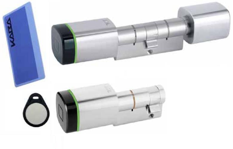 Cylindre électronique Mifare avec bouton intérieur