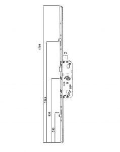 CREMONE 5.25 AXE 25/70 - 1/2T+2G AJUST H+B