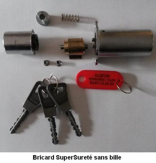JEU DE CYLINDRE BRICARD SUPERSURETE SANS BILLE