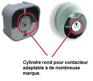 Cylindre rond pour contacteur montée/descente