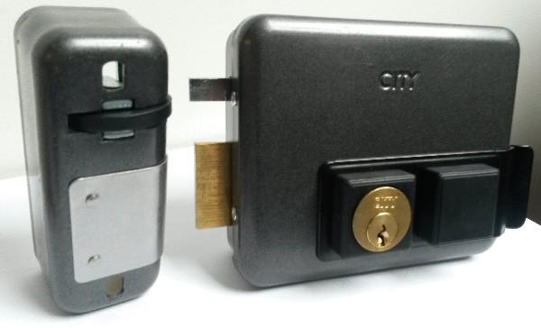 Serrure électrique en applique cylindre intérieur