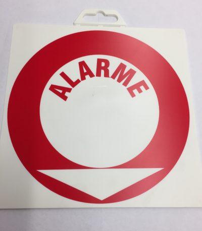 'PANNEAU''ALARME'PVC 200x200MM