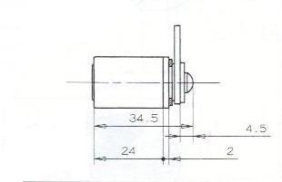 SERRURE BATTEUSE.S/PLAT.D18/L24 - 2 CLES