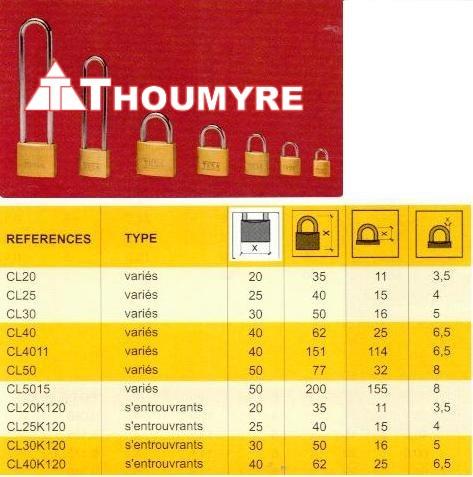 CADENAS SURETE - 45mm/ANSE 145mm - 2 CLES