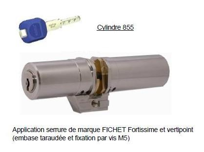CYLINDRE MONOBLOC KABA POUR FICHET VERTIPOINT ET FORTISSIME