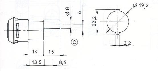 SERRURE A ENTRAINEMENT L41/D19 - 2 CLES