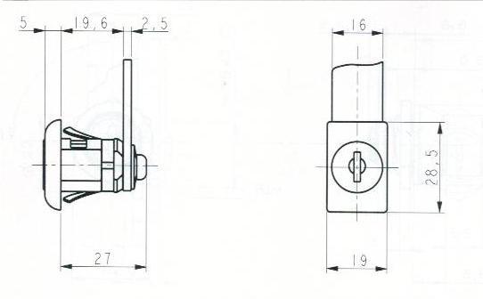 SERRURE BATTEUSE A AUTOCLIPS - 2 CLES