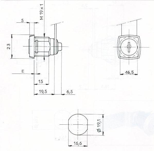 SERRURE BATTEUSE RS - 2 CLES